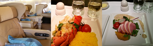Aboard SQ Singapore Airlnes Business Class